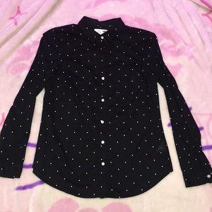Old Navy polka dot blouse